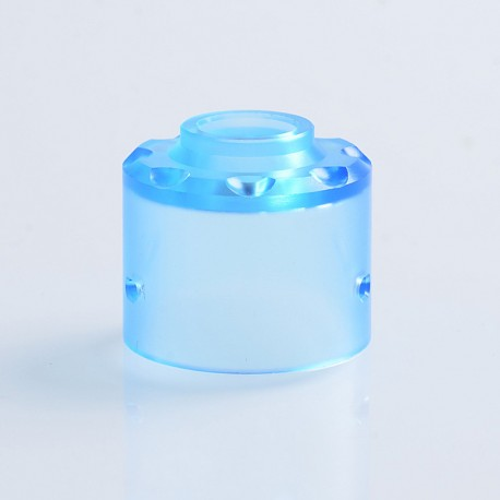Replacement Top Cap for Hadaly Style RDA Atomizer - Blue, PMMA