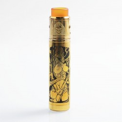 Tower Mods Desolator Z Style Hybrid Mechanical Mod + Axis Style RDA Kit - Gold, Brass, 1 x 18650