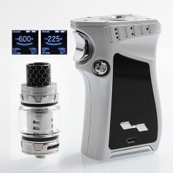 Authentic SMOKTech SMOK Mag 225W TC VW Mod + TFV12 Prince Tank Kit Right-Handed Edition - Silver Prism Chrome, 6~225W, 2 x 18650