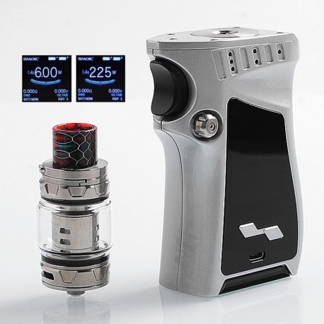 Authentic SMOKTech SMOK Mag 225W TC VW Mod + TFV12 Prince Tank Kit Right-Handed Edition - Silver Black, 6~225W, 2 x 18650, 8ml