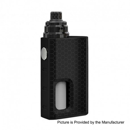 Authentic Wismec Luxotic 100W Squonk Box Mod + Tobhino BF RDA Kit - Black Honeycomb, 7.5ml, 1 x 18650, 22mm Diameter