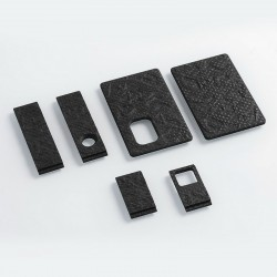 Authentic SJMY Replacement Panels for Toy Brick Squonk Box Mod - Black, G10 Fiberglass (6 PCS)