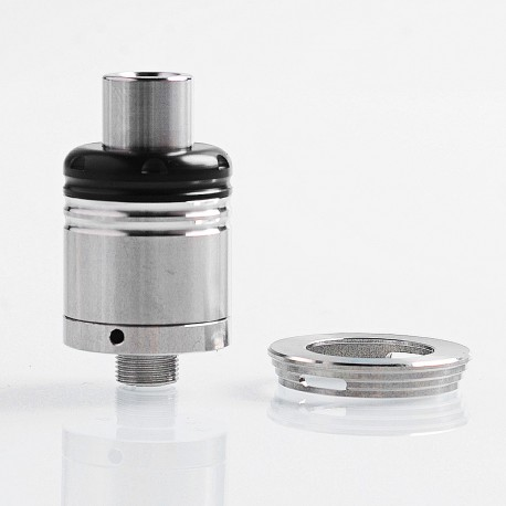 YFTK Karma Style RDA Rebuildable Dripping Atomizer w/ BF Pin - Silver, 316 Stainless Steel, 18mm Diameter