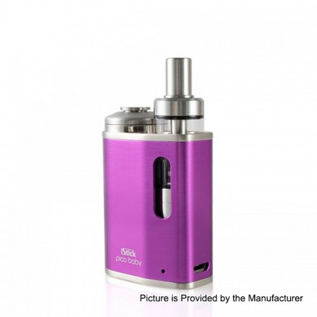 Authentic Eleaf iStick Pico Baby 25W 1050mAh Mod + GS Baby Tank Kit - Purple, Stainless Steel, 2ml