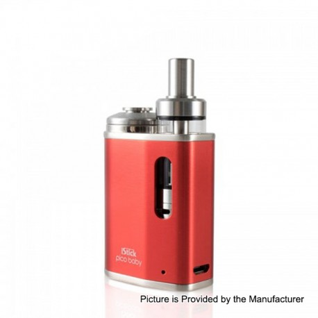Authentic Eleaf iStick Pico Baby 25W 1050mAh Mod + GS Baby Tank Kit - Red, Stainless Steel, 2ml