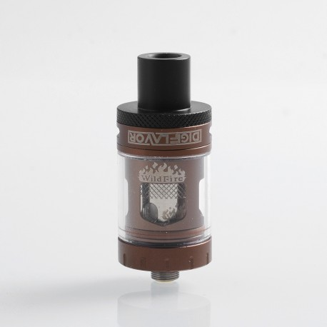 Authentic Digiflavor Wildfire Flavor Sub Ohm Tank Atomizer - Coffee, Stainless Steel, 3ml, 0.5 Ohm, 22mm Diameter