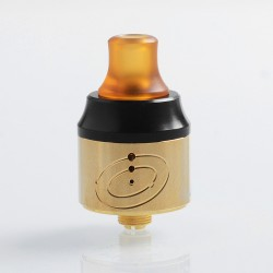 Authentic Vapefly Galaxies MTL RDA Rebuildable Dripping Atomizer w/ BF Pin - Gold, Stainless Steel + PMMA, 22mm Diameter