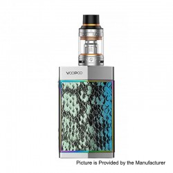 Authentic Voopoo TOO 180W TC VW Variable Wattage Box Mod + Uforce Tank Kit - Turquoise + Silver, 5~180W, 1 / 2 x 18650, 3.5ml