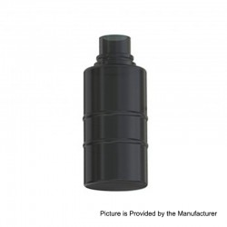 Authentic Wismec Replacement Bottom Feeder Bottle for Luxotic Squonk Box Mod - Black, Plastic, 7.5ml
