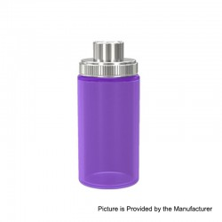 Authentic Wismec Replacement Bottom Feeder Bottle for Luxotic Squonk Box Mod - Purple, Silicone, 7.5ml