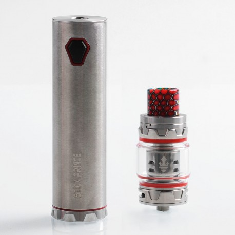 Authentic SMOKTech SMOK Stick Prince 100W 3000mAh Mod + TFV12 Prince Tank Kit - Silver, 8ml, 28mm Diameter