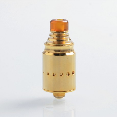 Authentic Vandy Vape Berserker MTL RDA Rebuildable Dripping Atomizer - Gold, Stainless Steel, 18mm Diameter