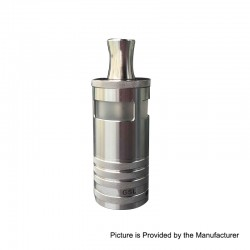 YFTK GSL Style RTA Rebuildable Tank Atomizer - Silver, 316 Stainless Steel, 5ml, 23mm Diameter
