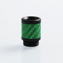 810 Replacement Drip Tip for TFV8 / TFV12 Tank / 528 Goon / Kennedy / Reload RDA - Green, Carbon Fiber + POM, 22mm