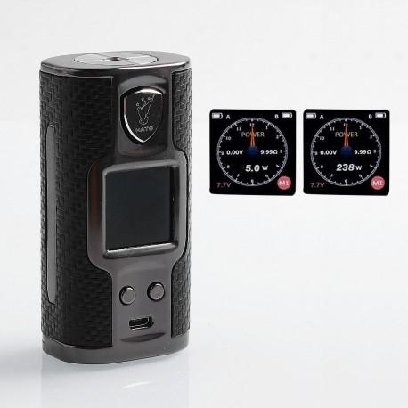Authentic Soomook Hato K-One 238W TC VW Variable Wattage Box Mod - Black, Zinc Alloy, 5~238W, 2 x 18650