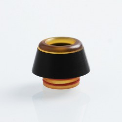 810 Replacement Drip Tip for TFV8 / TFV12 Tank / 528 Goon / Kennedy / Reload RDA - Yellow + Black, PEI + Resin, 15mm
