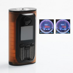 Authentic Lost Vape Modefined Lyra 200W TC VW Variable Wattage Box Mod - Amber Frame + Black, 7~200W, 2 x 18650