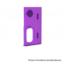 Authentic Wismec Replacement Cover Panel for Luxotic Squonk Box Mod - Purple Honeycomb, Resin