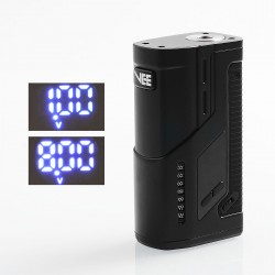 Authentic Dovpo VEE VV Variable Voltage Box Mod - Black, Zinc Alloy, 1~8V, 2 x 18650