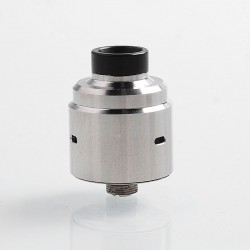 Hadeon Entheon Style RDA Rebuildable Dripping Atomizer w/ BF Pin - Silver, Stainless Steel, 22mm Diameter