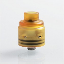 Hadeon Entheon Style RDA Rebuildable Dripping Atomizer w/ BF Pin - Yellow, PEI + Stainless Steel, 22mm Diameter
