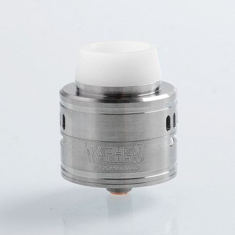 YFTK Warhead Style RDA Rebuildable Dripping Atomizer w/ BF Pin - Silver, 316 Stainless Steel, 30mm Diameter