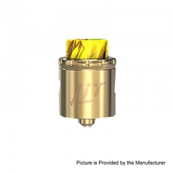 Authentic Vandy Vape Lit RDA Rebuildable Dripping Atomizer w/ BF Pin - Gold, Stainless Steel, 24mm Diameter