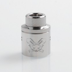 Authentic Hellvape Priest Challenge Cap for 24mm Dead Rabbit RDA - Silver, Stainless Steel