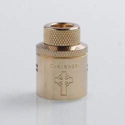 Authentic Hellvape Priest Challenge Cap for 24mm Dead Rabbit RDA - Brass, Brass