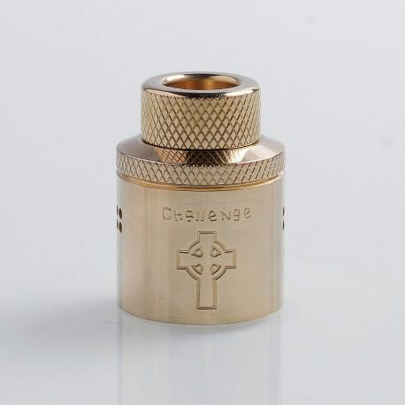 Authentic Hellvape Priest Challenge Cap for 24mm Dead Rabbit RDA - Brass, Brass