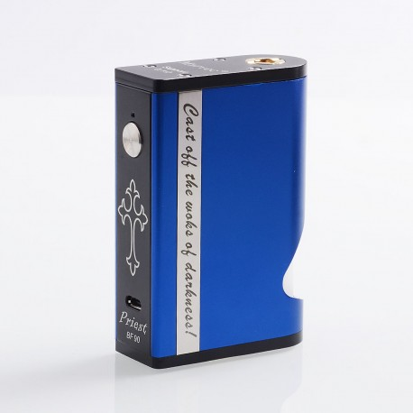 Authentic Marvec Priest BF 90W Squonk Box Mod - Blue, Aluminum + Stainless Steel, 1 x 18650 / 20700 / 21700, 8ml