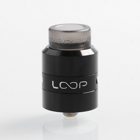 Authentic GeekVape Loop RDA Rebuildable Dripping Atomizer w/ BF Pin - Black, Stainless Steel, 24mm Diameter