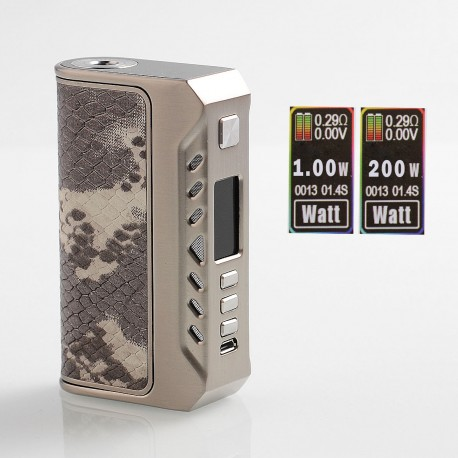 Authentic ThinkVape Thunder 200W TC VW Variable Wattage Box Mod - Silver, 1~200W, 2 x 18650