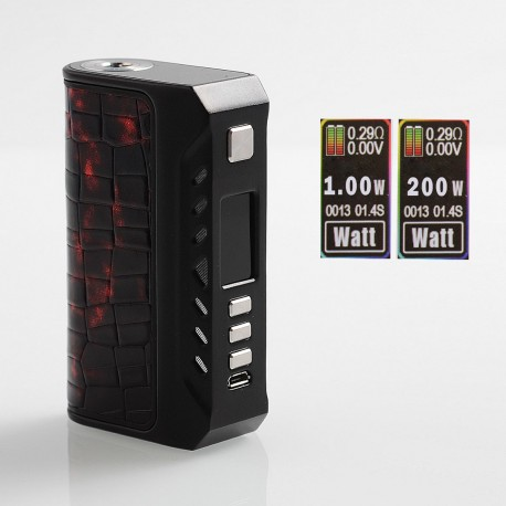 Authentic ThinkVape Thunder 200W TC VW Variable Wattage Box Mod - Black, 1~200W, 2 x 18650