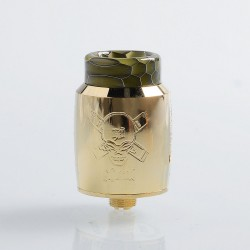 Authentic Blitz Ghoul RDA Rebuildable Dripping Atomizer w/ BF Pin - Gold, Stainless Steel, 22mm Diameter
