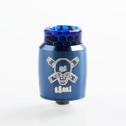 Authentic Blitz Ghoul RDA Rebuildable Dripping Atomizer w/ BF Pin - Navy Blue, Stainless Steel, 22mm Diameter