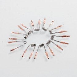 Authentic Vapjoy Clapton Parallel Coil Ni80 Heating Wire - 26GA x 2 + 39 + 26GA, 0.3 Ohm (10 PCS)