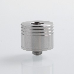 YFTK Short Cranked Style RDA Rebuildable Dripping Atomizer w/ BF Pin - Silver, 316 Stainless Steel, 22mm Diameter