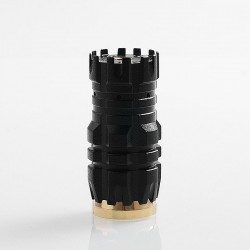Predator Mini Style Hybrid Mechanical Mod - Matte Black, Brass, 1 x 18350