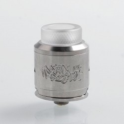 Authentic DEJAVU RDA Rebuildable Dripping Atomizer w/ BF Pin - Silver, Stainless Steel, 24mm Diameter