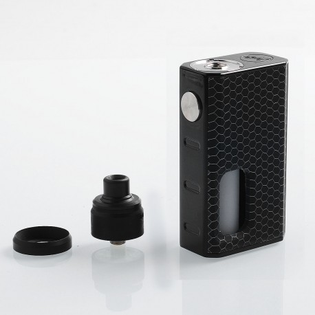 Authentic Wismec Luxotic 100W Squonk Box Mod + Tobhino BF RDA Kit - Black Honeycomb, 7.5ml, 1 x 18650, 22mm Diameter