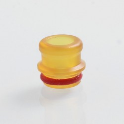 510 Replacement Drip Tip + 22mm Decorative Ring Kit for RDA / RTA / Sub Ohm Tank Atomizer - Yellow, PEI