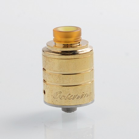 Authentic Paradigm Modz Octarine V2 RDA Rebuildable Dripping Atomizer - Gold, Stainless Steel, 22mm Diameter