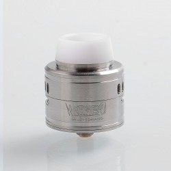 Kindbright Warhead Style RDA Rebuildable Dripping Atomizer w/ BF Pin - Silver, 316 Stainless Steel, 30mm Diameter