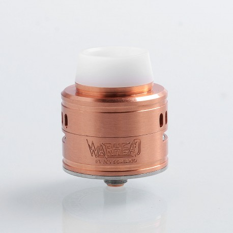 Kindbright Warhead Style RDA Rebuildable Dripping Atomizer w/ BF Pin - Copper, Copper + 316 Stainless Steel, 30mm Diameter