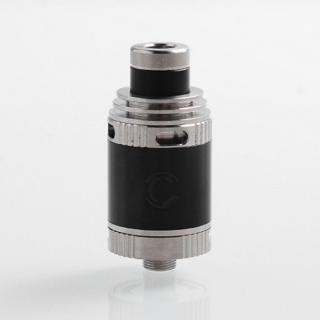 Charm Style RDA Rebuildable Dripping Atomizer - Black, 304 Stainless Steel, 21mm Diameter