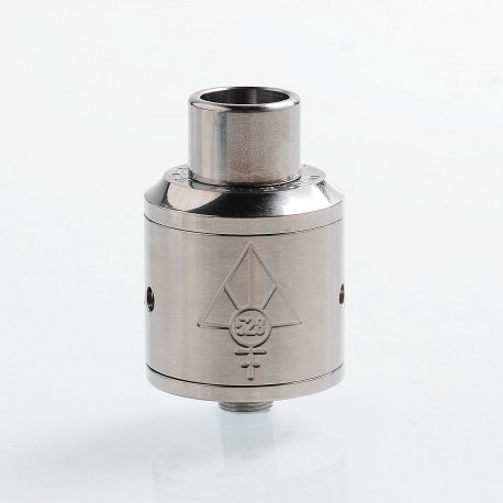 Authentic 528 Custom Titanium Goon RDA Rebuildable Dripping Atomizer - Silver, Titanium + Silver, 24mm Diameter