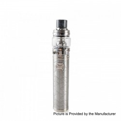 Authentic Eleaf iJust 3 80W 3000mAh Mod + ELLO Duro Tank Kit - Silver, 6.5ml, 0.15 / 0.2 Ohm