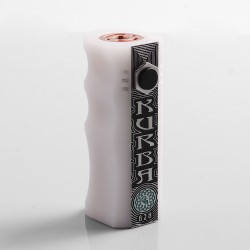 Kurba Style Hybrid Mechanical Box Mod - White, POM, 1 x 18650
