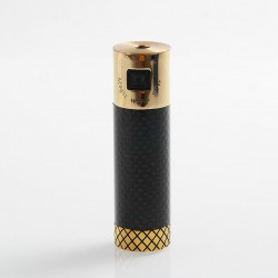 Authentic Marvec Magic Wand 90W Tube Mod - Black, Carbon Fiber + Brass, 1 x 18650
